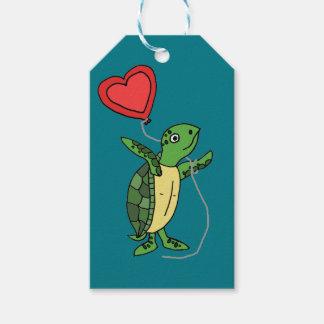 Etiqueta Para Presente Tartaruga de mar engraçada que guardara o balão do