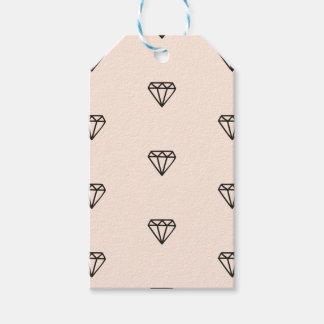 Etiqueta Para Presente Teste padrão chique bonito do rosa do diamante