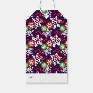Etiqueta Para Presente Teste padrão colorido do Natal
