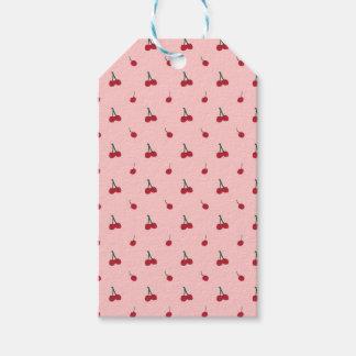 Etiqueta Para Presente Teste padrão cor-de-rosa da cereja