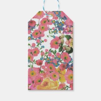 Etiqueta Para Presente teste padrão floral do tema das flores elegantes