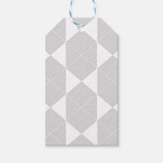 Etiqueta Para Presente Teste padrão geométrico abstrato - cinzas e branco