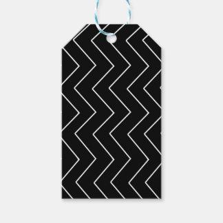 Etiqueta Para Presente Teste padrão geométrico abstrato - preto e branco.