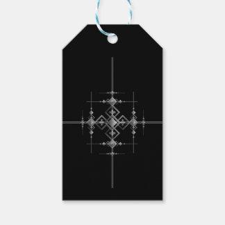 Etiqueta Para Presente Teste padrão metálico gótico