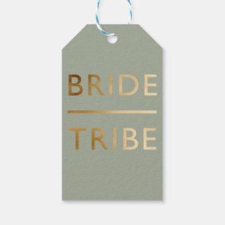 Etiqueta Para Presente texto elegante minimalista do ouro do falso do