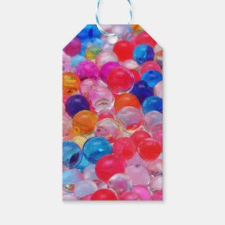 Etiqueta Para Presente textura colorida das bolas da geléia