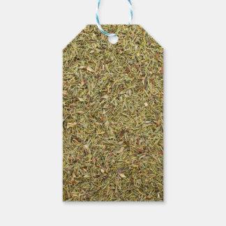 Etiqueta Para Presente textura secada do tomilho