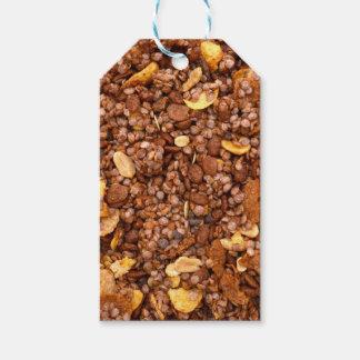 Etiqueta Para Presente Textura torrada de Muesli