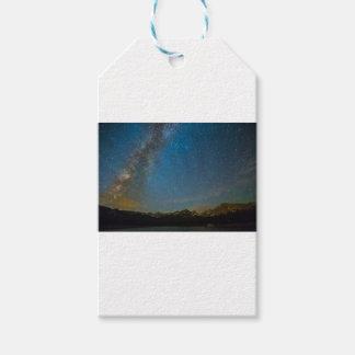 Etiqueta Para Presente Tipo da Via Láctea de Colorado da noite