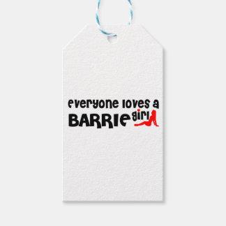 Etiqueta Para Presente Todos ama uma menina de Barrie