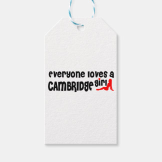 Etiqueta Para Presente Todos ama uma menina de Cambridge