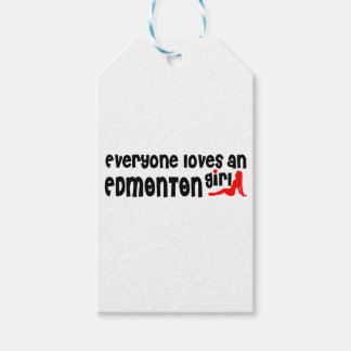 Etiqueta Para Presente Todos ama uma menina de Edmonton