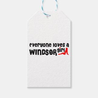 Etiqueta Para Presente Todos ama uma menina de Windsor