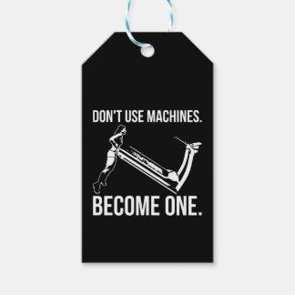 Etiqueta Para Presente Torna-se uma máquina, escada rolante de