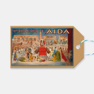 Etiqueta Para Presente Trabalhos de arte de Aida da ópera do vintage
