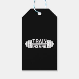 Etiqueta Para Presente Trem insano - Barbell, Gym, exercício inspirado
