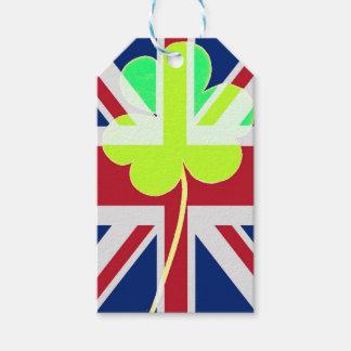 Etiqueta Para Presente Trevo britânico irlandês St Patrick Reino Unido do