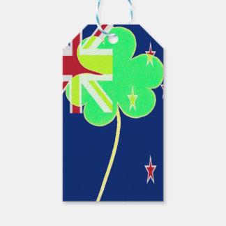 Etiqueta Para Presente Trevo St Patrick do trevo da bandeira de Nova