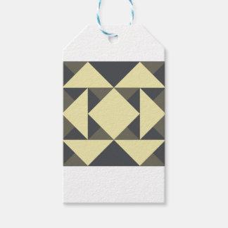Etiqueta Para Presente Triângulos do preto e do ouro