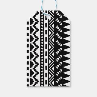 Etiqueta Para Presente Tribal asteca preto e branco