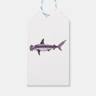 Etiqueta Para Presente Tubarão de Hammerhead