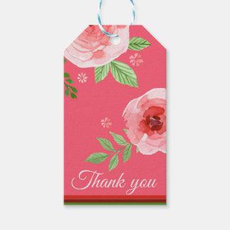 Etiqueta Para Presente um obrigado que bonito do rosa cor-de-rosa você