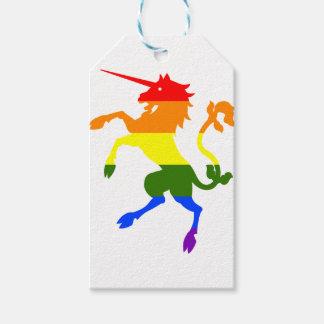 Etiqueta Para Presente Unicórnio do arco-íris