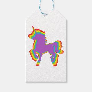 Etiqueta Para Presente Unicórnio do arco-íris de LGBT