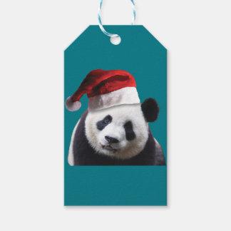 Etiqueta Para Presente Urso de panda do Natal