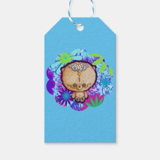 Etiqueta Para Presente Urso do hippy