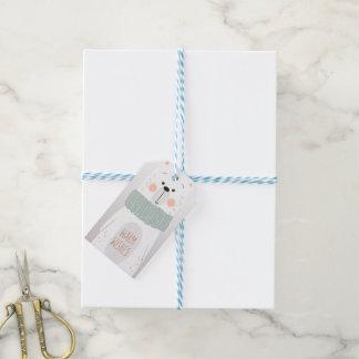 Etiqueta Para Presente Urso polar - aqueça desejos - Tag bonito do