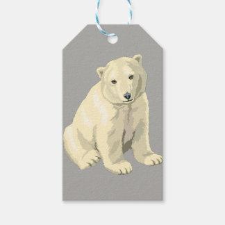 Etiqueta Para Presente Urso polar cinzento personalizado