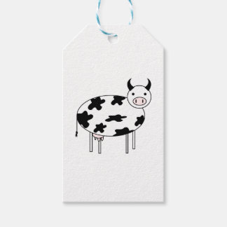 Etiqueta Para Presente Vaca bonito