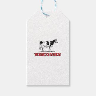 Etiqueta Para Presente vaca vermelha de Wisconsin