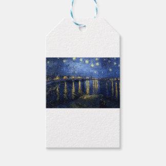 Etiqueta Para Presente Van Gogh: Noite estrelado sobre o Rhone