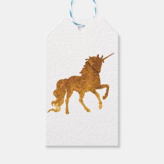 Etiqueta Para Presente Várias cores Prancing mágicas do unicórnio dourado