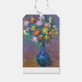 Etiqueta Para Presente Vaso dos crisântemos Claude Monet