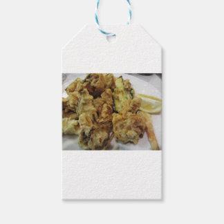 Etiqueta Para Presente Vegetais crocantes panados e fritados com limão