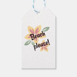 Etiqueta Para Presente Verão floral - praia por favor