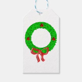 Etiqueta Para Presente Verde da grinalda do Natal