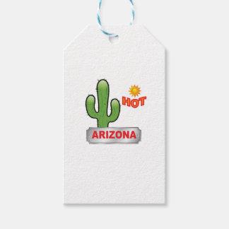 Etiqueta Para Presente Vermelho quente da arizona