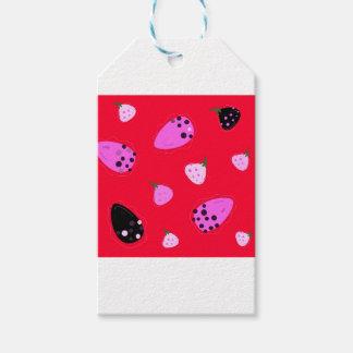 Etiqueta Para Presente Vermelho selvagem dos figos do design
