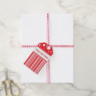 Etiqueta Para Presente Vermelho & White Christmas