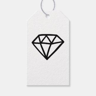 Etiqueta Para Presente Versão preto e branco do diamante