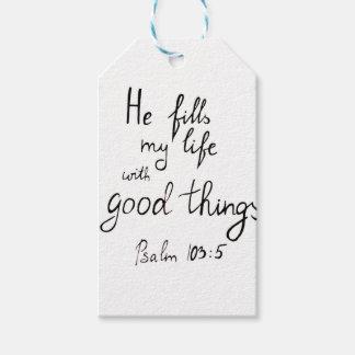Etiqueta Para Presente Verso da bíblia pela cruz de Angela