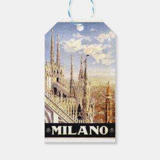 Etiqueta Para Presente Viagem de Milão do vintage