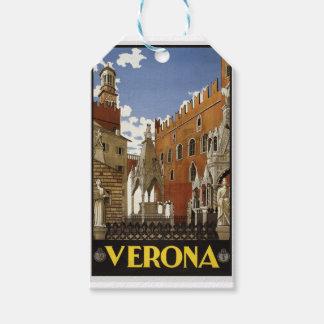 Etiqueta Para Presente Viagem de Verona do vintage