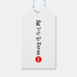 Etiqueta Para Presente Viagem grande ao resíduo metálico do Tag do