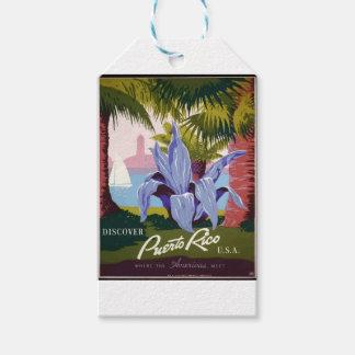 Etiqueta Para Presente Viagens vintage Puerto Rico