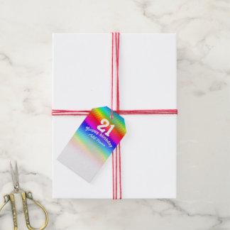 Etiqueta Para Presente Viga do arco-íris
